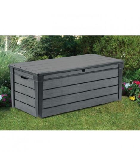 KETER Coffre de rangement en résine 445L pour le jardin - 145x69,7x60,3cm - Gris