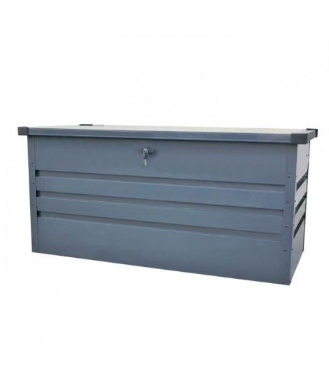 Coffre de rangement extérieur en métal - 400L - Gris anthracite