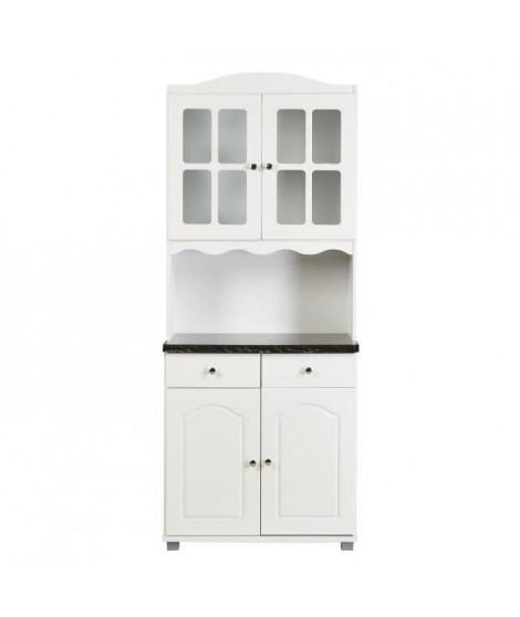 MATY Buffet de cuisine L 80 cm - Blanc
