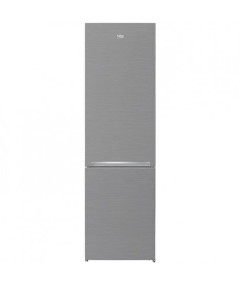 BEKO - RCNA355K20PT - Réfrigérateur combiné - 321L (231L + 90L) - Froid Ventilé - A+ - L59,5cm x H201cm - Inox