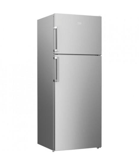 BEKO RDSE465K21S - Réfrigérateur congélateur haut - 437 L (322 + 115 L) - Froid brassé - Classe A+ - L 70 x H 185 cm - Silver