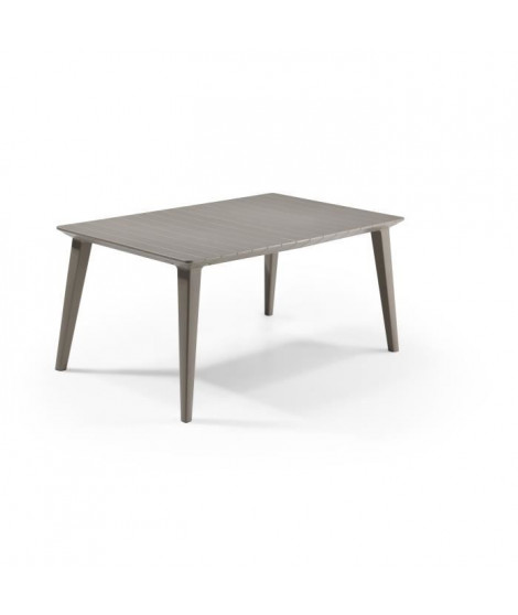 ALLIBERT JARDIN Table Lima 160 6 personnes - Design contemporain - Cappucino