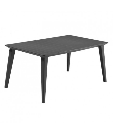 ALLIBERT JARDIN Table Lima 160 6 personnes - Design contemporain - Graphite
