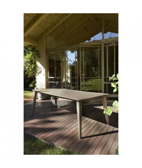 ALLIBERT JARDIN Table Lima 240cm 6-8 personnes avec allonge - Cappucino