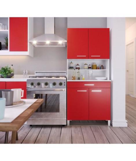TACOMA Buffet de cuisine L 80 cm - Rouge mat