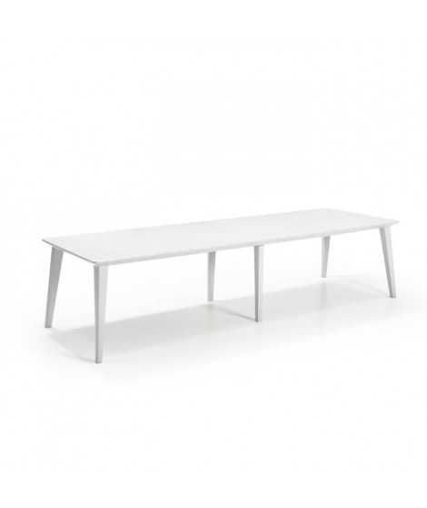 ALLIBERT JARDIN Table Lima 320 8-10 personnes avec allonge - Design contemporain - Blanc