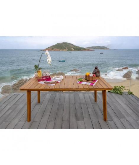 Meuble de jardin - Table de jardin rectangulaire - En bois et acacia