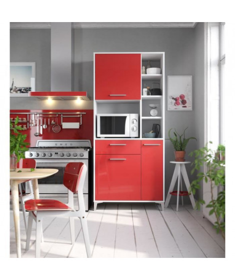 ECO Buffet de cuisine L 80 cm - Rouge brillant