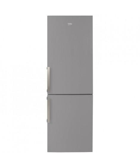 BEKO RCSA365K21S Réfrigérateur combiné-346L (233L + 113L)-froid brassé / froid statique-A+-L59,5 x H185,3cm-Silver