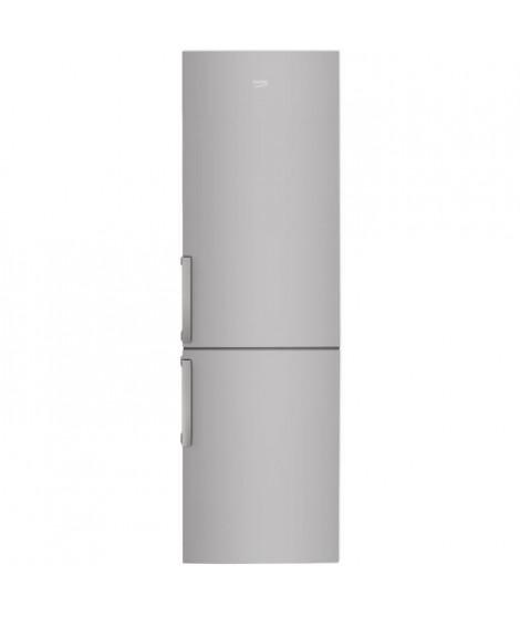 BEKO RCSA400S - Réfrigérateur congélateur bas - 380L (267+113) - Froid statique - A+ - L 59,5cm x H 201cm - Silver