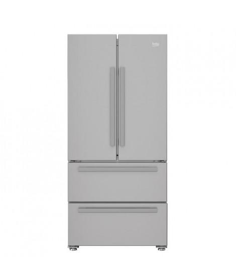 BEKO REM60S - Réfrigérateur multi-portes - 539L (387+152) - Froid ventilé - A+ - L 84cm x H 182,5cm - Silver