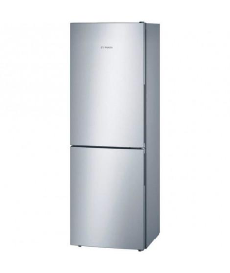 BOSCH KGV33VL31S - Réfrigérateur congélateur bas - 288L (194+94) - Froid brassé - A++ - L 60cm x H 176cm - Inox