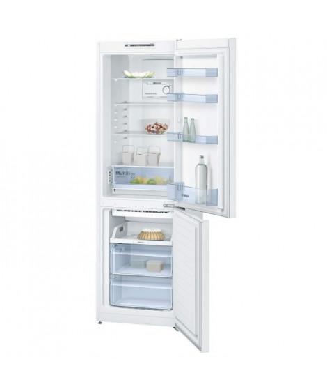 BOSCH KGN36NW30 - Réfrigérateur combiné - 302 L (215 + 87 L) - Froid no frost brassé - A++ - L 60 x H 186 cm - Blanc