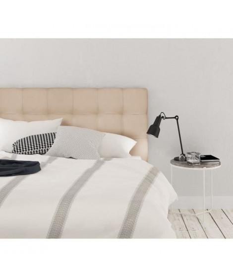 FINLANDEK Tete de lit ARMANCE classique - Tissu beige - L 160 cm