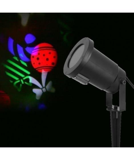 Projecteur LED de Noël - Paquets cadeaux multicolores