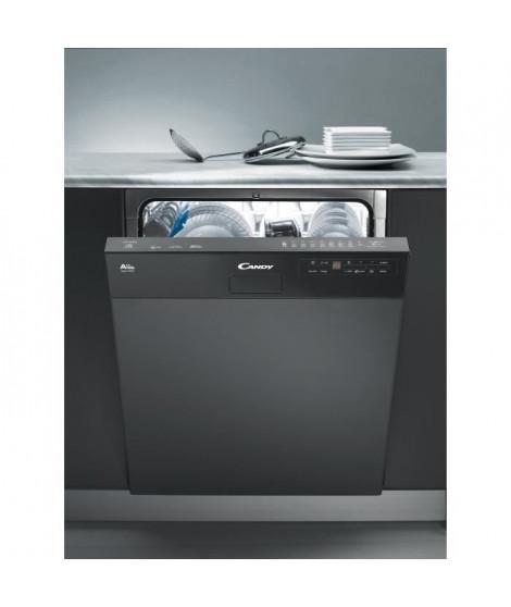 CANDY CDS2D35N - Lave vaisselle encastrable - 13 couverts - 46 dB - A++ - Larg 60 cm - Bandeau noir