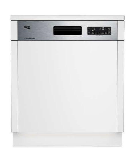 BEKO - DSN2842X - Lave-vaisselle encastrable - 60 cm - 14 couverts - A++ - 9,5 L - Bandeau Inox