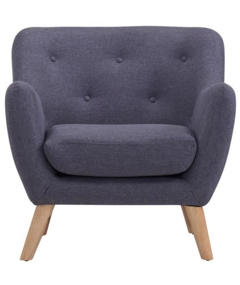 SCANDI Fauteuil design scandinave Anthracite