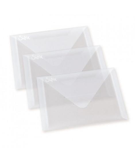 SIZZIX Set de 3 Enveloppes de Rangement en plastique pour matrices