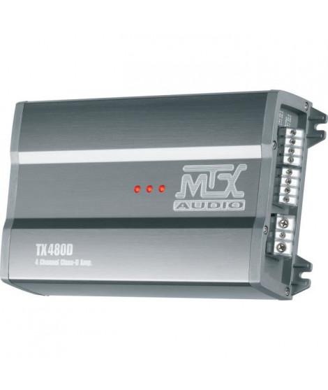 MTX TX480D Amplificateur 12V 4 Canaux Classe-D 4x80W RMS en Aluminium