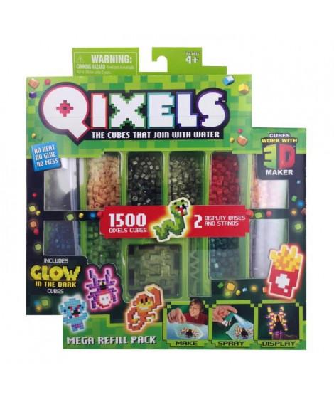 QIXELS - Mega recharges GLOW (1500 recharges - 10 couleurs)