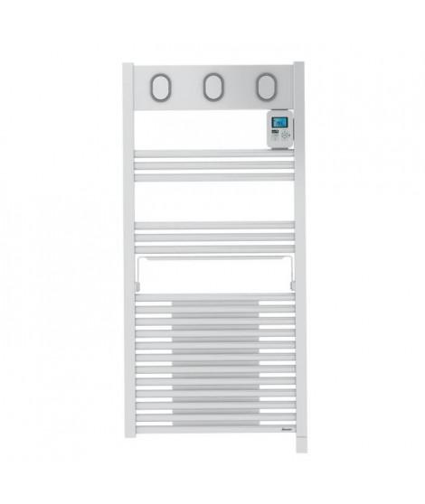 SAUTER Marapi Radiateur Seche-serviettes électrique avec soufflerie - 1500 watts - Ecran LCD - Programmable -Tubes ronds