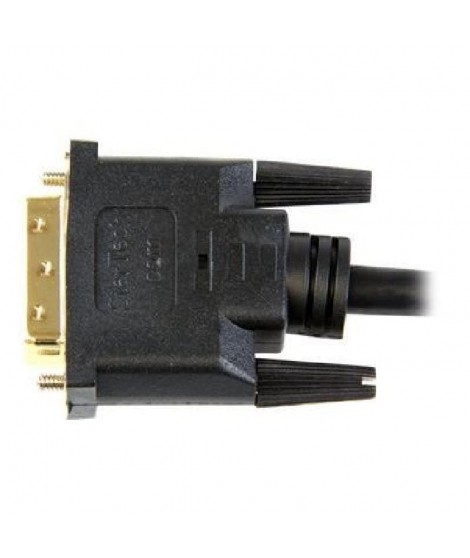 StarTech.com Câble HDMI vers DVI de 2 m - Cordon HDMI vers DVI-D - M/M - Noir - Plaqués or
