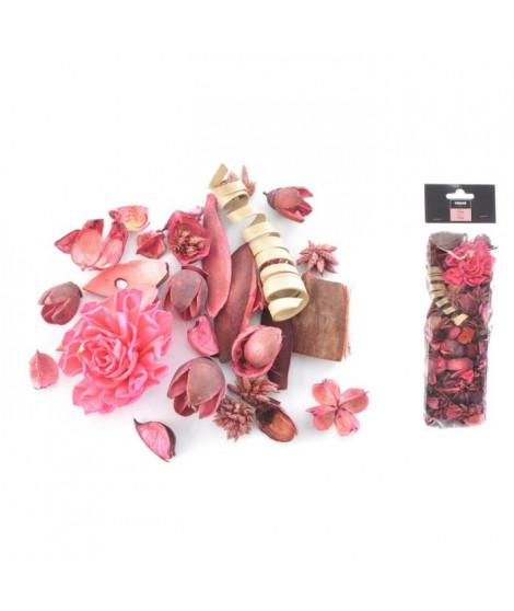 Pot pourri 140 g - 8x30x5 cm - Parfum rose - Rose