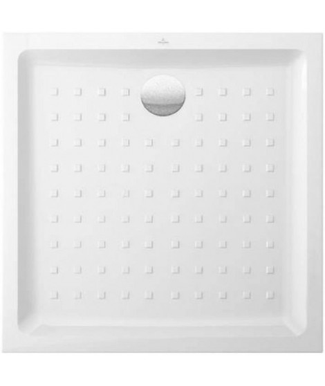VILLEROY & BOCH Receveur de douche carré a poser O.novo - 90 x 90 cm - Céramique - Blanc