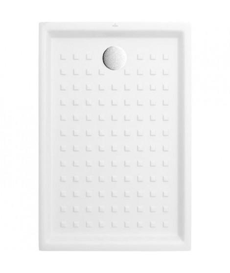 VILLEROY & BOCH Receveur de douche rectangulaire a poser O.novo - 120 x 80 cm - Céramique - Blanc