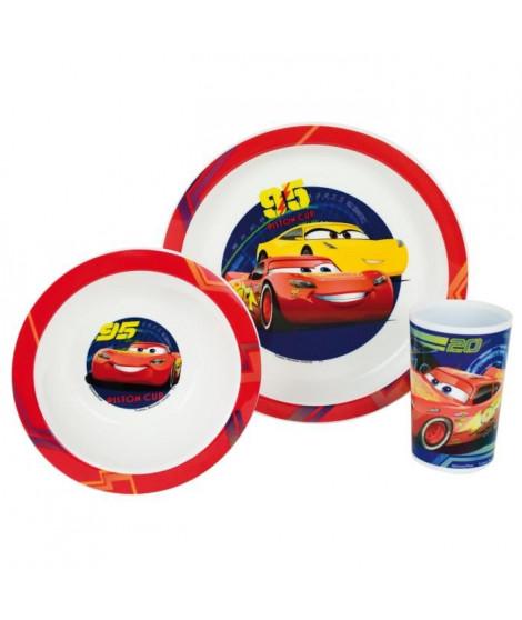 Fun House Disney Cars ensemble repas comprenant 1 assiette, 1 verre et 1 bol pour enfant
