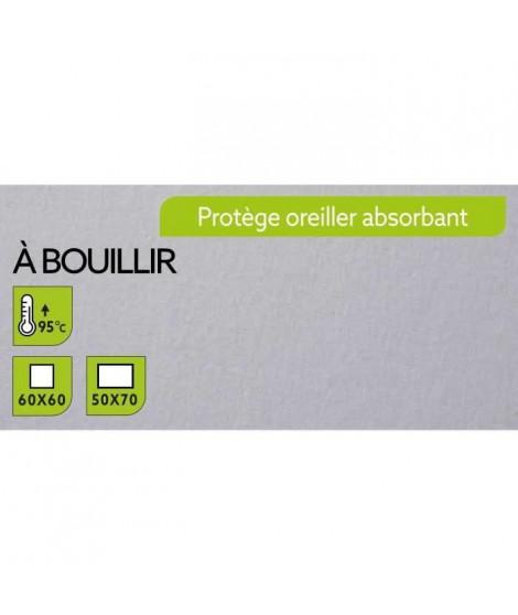 TODAY Protege Oreiller Absorbant a Bouillir 50x70cm - 100% Coton (Lot de 3)