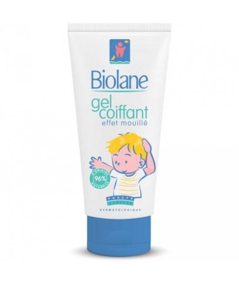 BIOLANE Gel coiffant Effet mouilé enfants - 100 ml (Lot de 3)