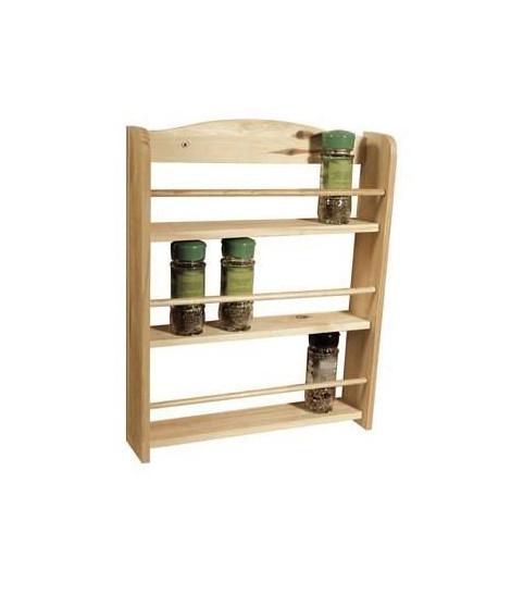FRANDIS Etagere a épices 3 étages en bois 33,5x39x7cm marron