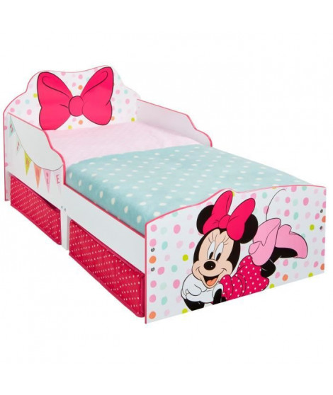 Minnie Mouse - Lit pour enfants avec espace de rangement sous le lit