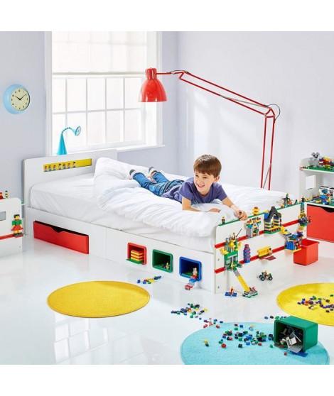 Room 2 Build Lit simple de 2 m pour enfant avec rangement