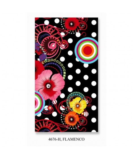 HIP Serviette de Plage Flamenco 100x180 cm noir et rose