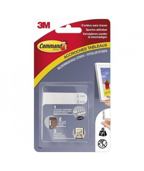 3M COMMAND Languettes de fixation - Petit modele - Blanc (Lot de 3)