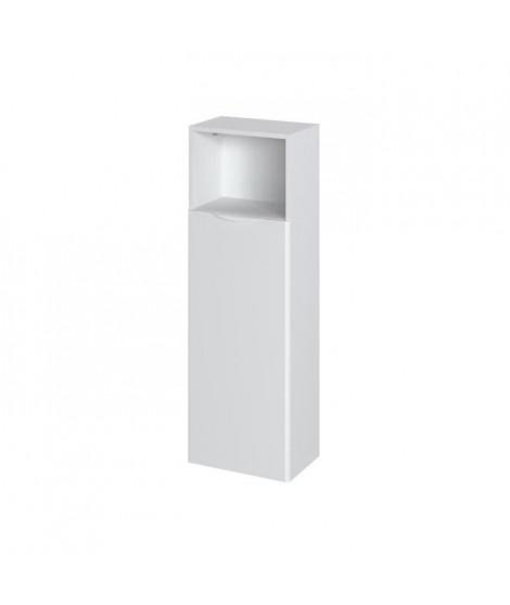 SOLNA Colonne salle de bain - L 40 cm Blanc laqué et mat