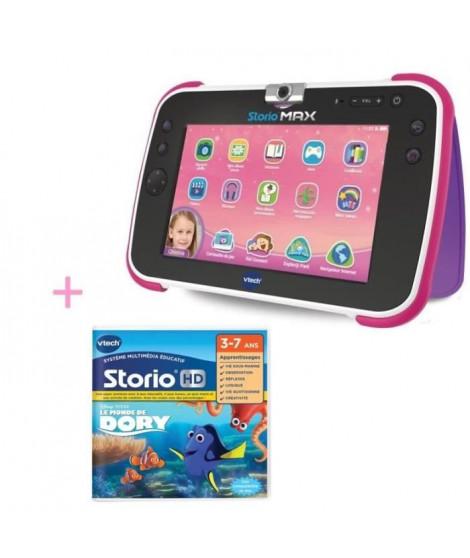 VTECH - Tablette STORIO MAX XL 2.0  rose & Jeu Le monde de Dory