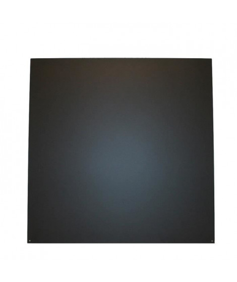 SO STEEL Plaque de sol de protection pour poele a bois ou granulés - Carrée - 73 x 73 cm - Acier - Noir
