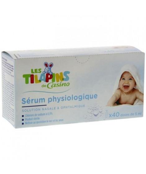 LES TILAPINS Sérum physiologique x 40 doses (Lot de 3)
