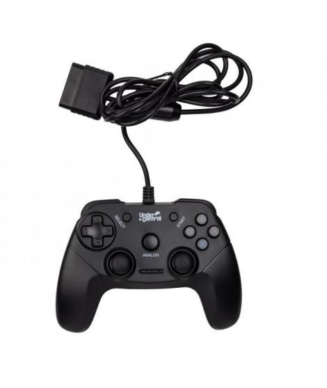 UNDER CONTROL Manette Filaire PS2 - Noire