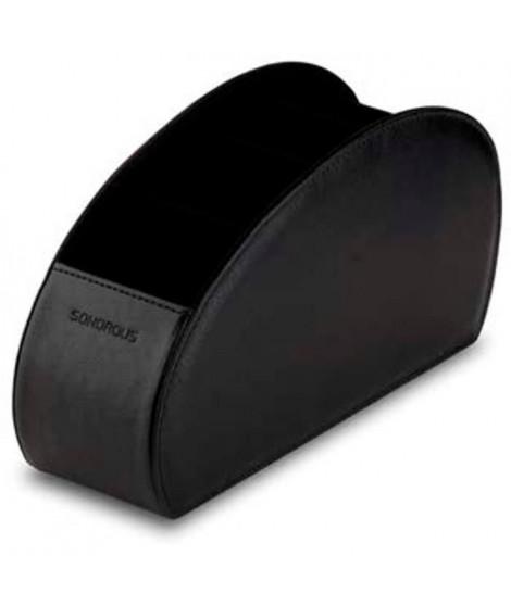 SONOROUS Range télécommande - Contient 5 télécommandes - Aspect cuir - Noir