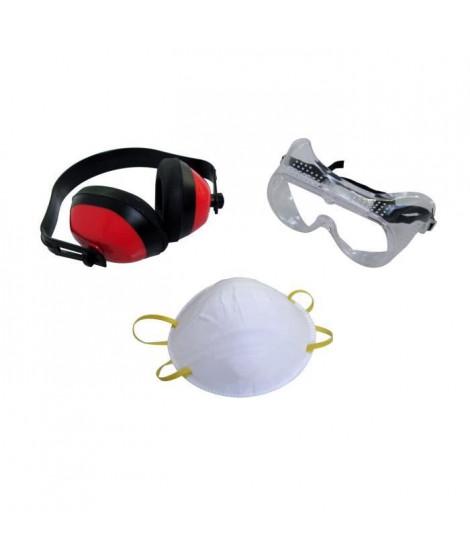 MEISTER Jeu de 3 pieces pour protection de travail - casques