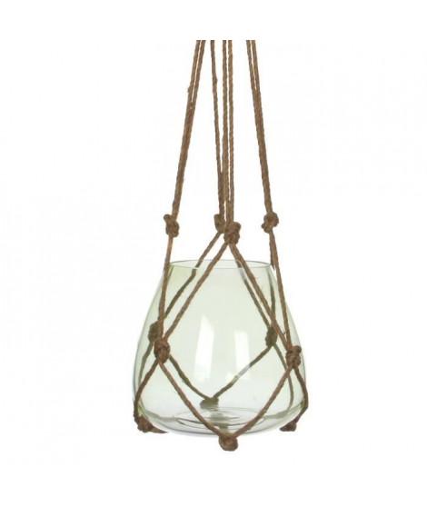 EDELMAN Vase a suspendre Verre - Vert - H120 x D24 cm