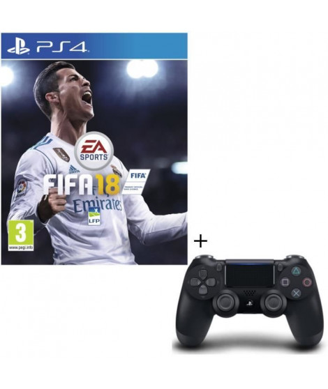 FIFA 18 + Manette DS4 Noire