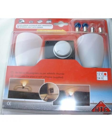 Double lumiere intérieure variable + ampoule - 12 V