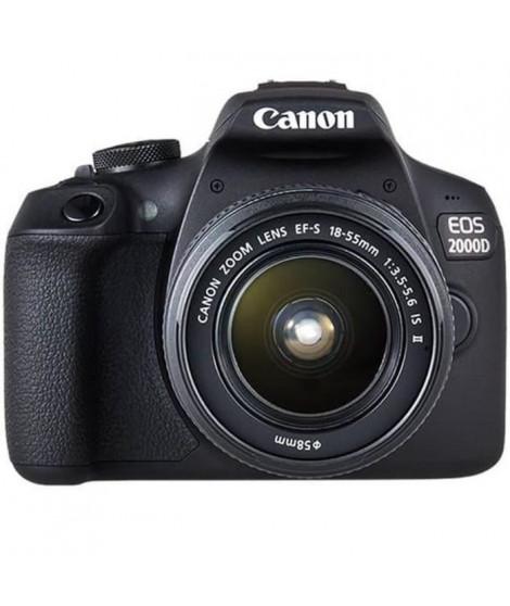 CANON EOS 2000D 24,1 mégapixels - Wi-Fi - NFC + Objectif EF-S 18-55 IS II