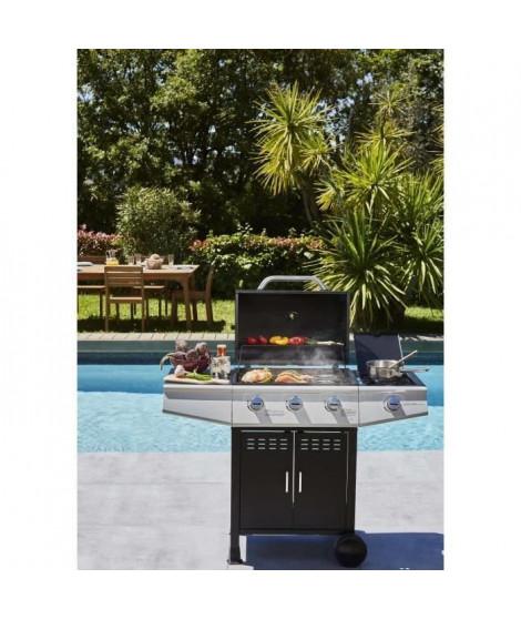 COOKING BOX Barbecue a gaz Paarl - 3 feux - Brûleur latéral - Grilles émaillées - 52 x 34 cm